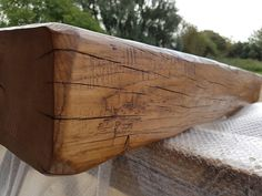 Distressed oak beam Www.periodoakbeams.co.uk