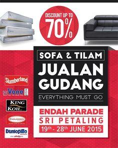 65a58668ce76 19-28 Jun 2015  Branded Sofa   Mattress Warehouse Sale Mattress