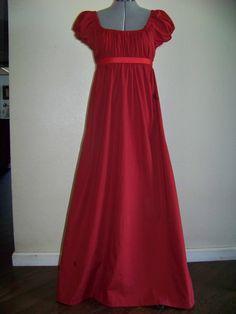 Jane Austen Clothing | Jane Austen Regency Style Costume Dress Size 6/8 by mrswheat01
