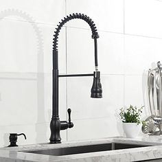 Oil Rubbed Bronze Kitchen Faucet Pull Out Sprayer Faucets