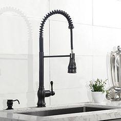 Vesla Best Modern Single Handle Stainless Steel Brushed Neckel Pull Out Sprayer Prep Rinse Oil Rubbed Bronze Commercial Kitchen Sink Faucets,High Arc Flow Bridge Gooseneck Faucet Vesla http://www.amazon.com/dp/B01DZMX7T0/ref=cm_sw_r_pi_dp_LPZfxb09T09PV