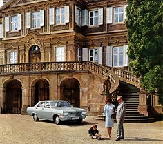 Schloss Admiral 1966 calendar - Opel Admiral  I'm pretty confident that we are looking at Schloss Ludwigsburg.