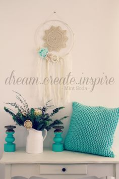 This is our favourite colour combo on Dream Catchers Dream Catchers, Color Combos, Favorite Color, Soda, Mint, Create, Unique, Lace, Colour
