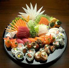 #sushi platter #sashimi #nigiri #california