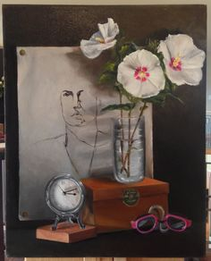 """Remembrance"" 16"" x 20"" Oil on canvas, Summer 2013  #StillLife #oilpaint #fineart https://www.facebook.com/ChristinaGrachekArt"