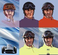 Digital Painting of F1 Heroes