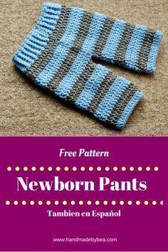 Crochet newborn pants free pattern