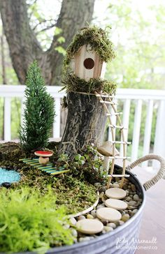 Hoy un especial con magia incluida! 6 ideas de jardines de hadas y fantasía que podemos hacer con los peques de la casa!