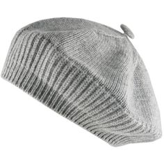 Grey Cashmere Beret ( 76) ❤ liked on Polyvore featuring accessories, hats,  beanie be7fece6980