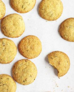 Spring Dessert Recipes // Lemon-Ginger Cookies with Mint Recipe