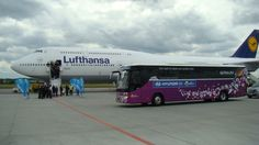 National Team of Germany in #Gdansk #EURO 2012 #Boeing 747-8
