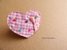 Pink heart ponytail holder by DailyArtbyAngelina on Etsy