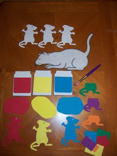 Mouse paint with foam pieces... made mine out of felt.