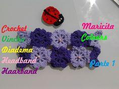 "Crochet Tutorial Diadema ""Flores"" (Parte 1)  Headband - Häkeln Haarband"