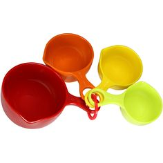 Jogo de Xícaras Medidoras 4 Peças Multicolorido