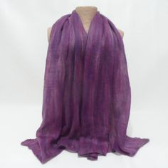 Purple and pink nuno felted scarf £23.00