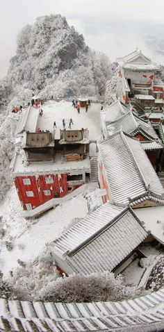 Ancient Building Complex in the Wudang Mountains, China