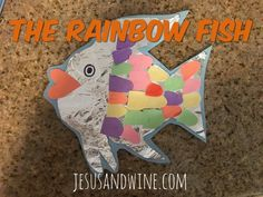 The Rainbow Fish | Toddler Activities | Toddler Crafts | Foil Crafts