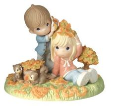 "Wedding anniversary gifts:Precious Moments Figurine, ""True Love Never Leaves The Heart"""
