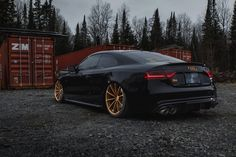 """This supercharged Audi S5 was built by Martin Barkey's crew at The Garage and is equipped with AccuAir Suspension, MBRP Performance Exhaust, ECS Tuning intake & brakes, Falken Tires, and 20"""" Forgeline 1pc forged monoblock GT1 5-Lug wheels finished in Tinted Gold. And it's being raffled to raise money for Prostate Cancer Canada! See more at: http://www.forgeline.com/customer_gallery_view.php?cvk=1519 #Forgeline #monoblock #GT1 #notjustanotherprettywheel #madeinUSA #Audi #S5"""