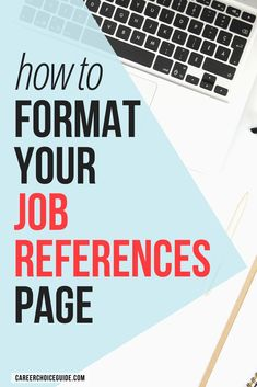 Job hunting? Here's how to format your resume reference page, so it looks professional and matches your resume design. #jobhunting #resumeformat #references #careerchoiceguide
