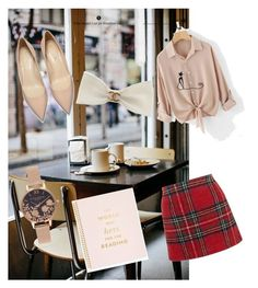 """Library chic"" by salvatore-nella ❤ liked on Polyvore featuring Coffee Shop, New Look, Olivia Burton, Kate Spade and Chanel"