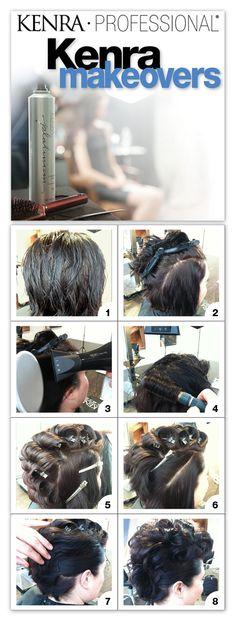 Short Hair Faux Hawk Tutorial. | Kenra Professional Hair Makeover