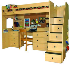 Desk bunk beds loft with stairs, many drawers bunk beds, modern bunk beds online. Smart plans for bunk beds with stairs. Adult Loft Bed, Adult Bunk Beds, Kids Bunk Beds, Bunk Bed With Desk, Bunk Beds With Stairs, Cool Bunk Beds, Loft Spaces, Small Spaces, Small Rooms