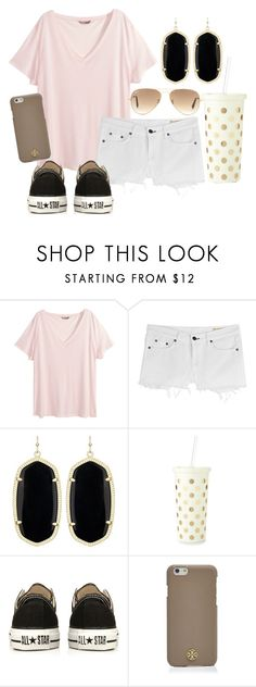 """""""Last few drops of summer"""" by so-preppy ❤ liked on Polyvore featuring H&M, rag & bone, Kendra Scott, Kate Spade, Converse, Tory Burch and Ray-Ban"""