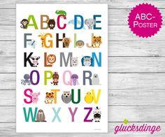 ♥ ABC Poster Tiere A3 ♥ Geschenk fürs Kinderzimmer von j-designerie - FEINE DRUCKSACHEN auf DaWanda.com