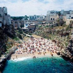 Polignano a Mare beach, province of Bari, region of Puglia, Italy. Memories of a road trip! Places Around The World, Oh The Places You'll Go, Places To Travel, Travel Destinations, Places To Visit, Around The Worlds, Travel Things, Travel Stuff, Dream Vacations