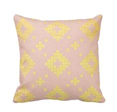 Metallic Gold and Warm Pink Throw Pillow by PrimalVogueHomeDecor