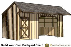 12x20 run in shed with cantilever