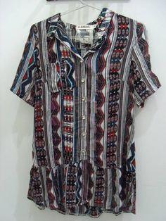 Vestido Estampa Étnica  Tamanho P R$ 88,00  www.elo7.com.br/dixiearte