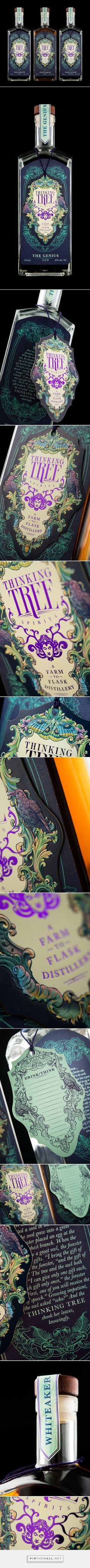 Thinking Tree Spirits packaging design by Hired Guns Creative - http://www.packagingoftheworld.com/2016/11/thinking-tree-spirits.html