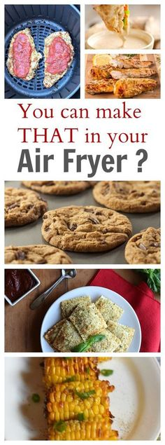 You Can Make THAT in an Air Fryer? The Best Air Fryer Recipes to make for your family! These are healthy and delicious options! You Can Make THAT in an Air Fryer? The Best Air Fryer Recipes to make for your family! These are healthy and delicious options! Air Fryer Oven Recipes, Air Frier Recipes, Deep Fryer Recipes, Air Fryer Recipes Dessert, Instant Pot, Actifry Recipes, Air Fried Food, Best Air Fryers, Air Frying