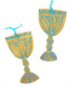 Passover Craft Wine Goblet Ornaments