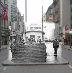 Checkpoint Charlie Old vs. New, Berlin