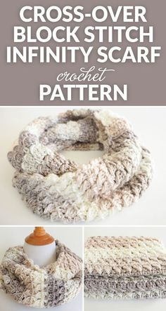 This Cross-Over Stitch Infinity Scarf is the perfect thing to keep you warm this winter. It also makes a perfect gift for a special someone this Christmas. häkeln Cross-Over Stitch Infinity Scarf Crochet Pattern - Dabbles & Babbles Knit Or Crochet, Crochet Gifts, Crochet Scarves, Crochet Shawl, Crochet Clothes, Easy Crochet, Diy Clothes, Crotchet, Chunky Crochet Scarf