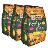 Michel et Augustin Petites Pitas Fines/Craquantes Huile d'Olive Pointe Sel 90 g - Lot de 3