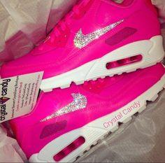 Crystal Nike Air Max 90s in Barbie Pink Nike Air Max 90s 9efe4afdd5