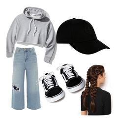 """""""Untitled #86"""" by jessieistrefi on Polyvore featuring River Island, Frame, LullaBellz, STONE ISLAND, denimtrend and widelegjeans"""