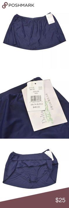 Blue Skirted Bikini Bottom Item: NWT Swimwear Blue Skirt Bottom Plus Size: 22W Brand New with Tags Swim