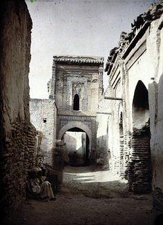 Marrakech Zaouïa de Sidi ben Sliman Portique du sanctuaire 1924