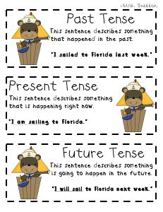 A Past, Present, and Future Tense Sort - - repinned by #PediaStaff.  Visit ht.ly/63sNt for all our pediatric therapy pins