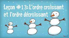 Croissant Décroissant, Math Term, Primary Maths, Flipped Classroom, Capsule, Winter Theme, Math Resources, Teaching, Cycle