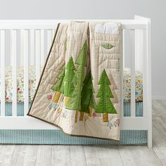 Nature Trail Baby Quilt - Land of Nod by Crate & Barrel