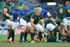 This was South Africa's most experienced team to ever start a World Cup match withSchalk Burger adding to over 900 collective caps