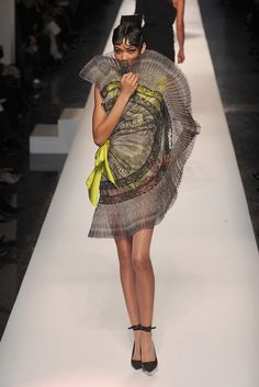 Half circle drapery dress by Jean-Paul Gaultier, SS 2009 Couture