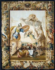Tapices flamencos de la catedral de Sigüenza - Marte huye, Júpiter se alegra por el final de la guerra.